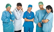 sad medical personnel